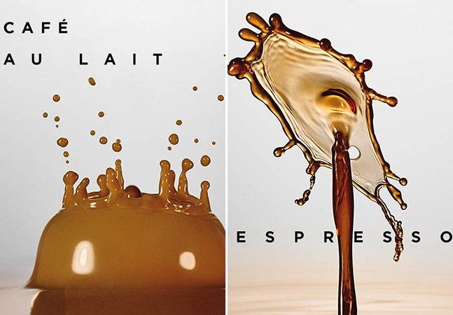 Série de fotos impressionante transforma gotas de café em verdadeiras obras de arte