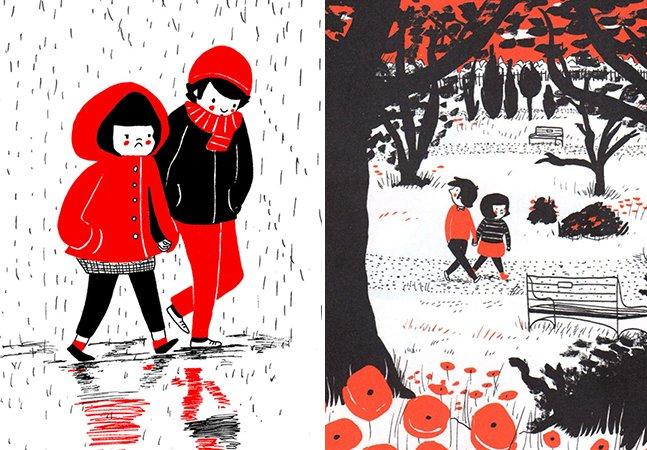 Artista cria série de ilustrações para provar que o amor está nas pequenas coisas