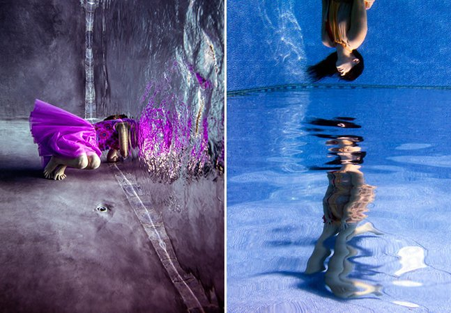Fotógrafo usa ilusão de ótica para criar série subaquática mágica