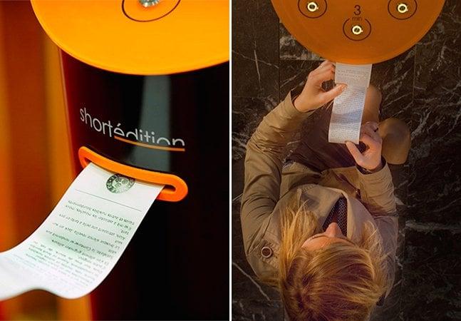 Vending machine oferece pequenas histórias para ajudar pessoas a passar o tempo