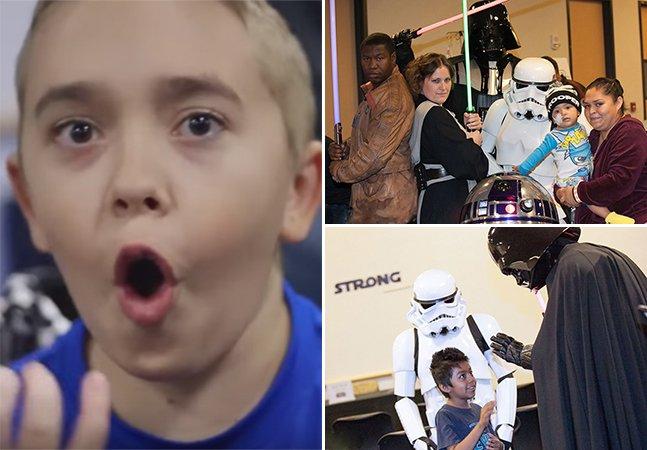 Vídeo emocionante mostra a visita do elenco de Star Wars a um hospital infantil