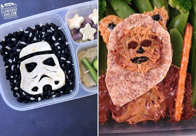 Pai criativo celebra saga de Star Wars com lanches personalizados para seus filhos