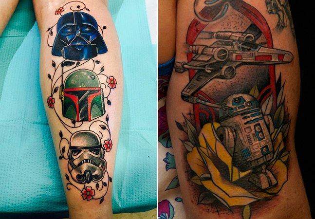 20 tattoos para inspirar quem quer eternizar Star Wars na pele