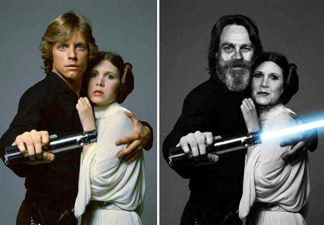 """Série de fotos mostra o """"antes"""" e """"depois"""" de nossos personagens favoritos de Star Wars"""