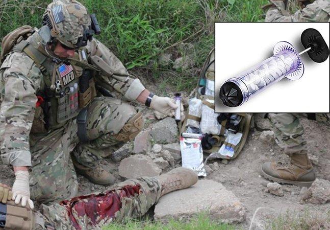 Empresa cria seringa que cobre ferimentos de bala e estanca o sangue em segundos