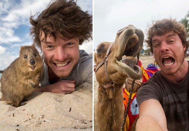 Encantador de animais revela  os segredos para tirar selfies  incríveis com diferentes espécies