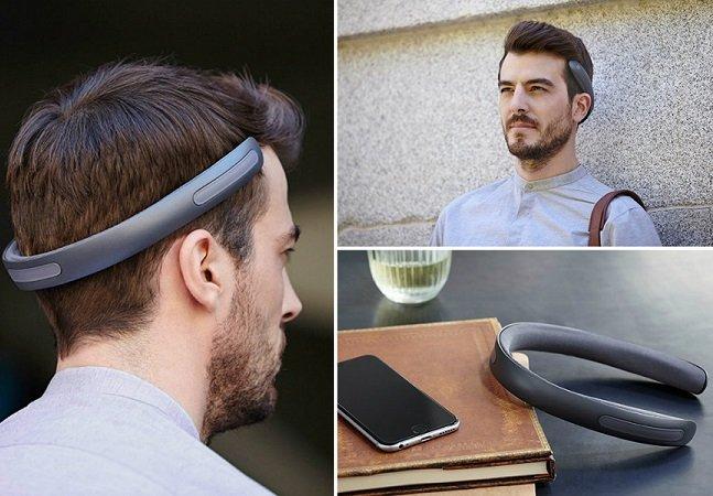 Fone inovador injeta o som diretamente na cabeça sem passar pelos ouvidos