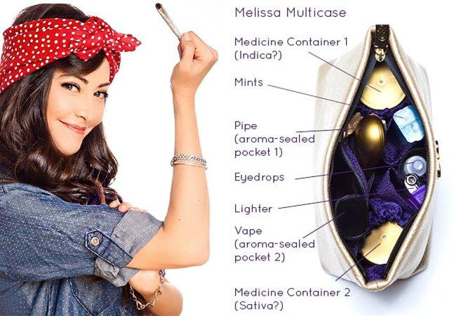 Você sabia que existe uma marca  que faz bolsas especiais  para quem fuma maconha?