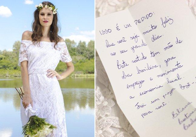 Costureiras brasileiras surpreendem noivas com bilhetes escondidos nos vestidos