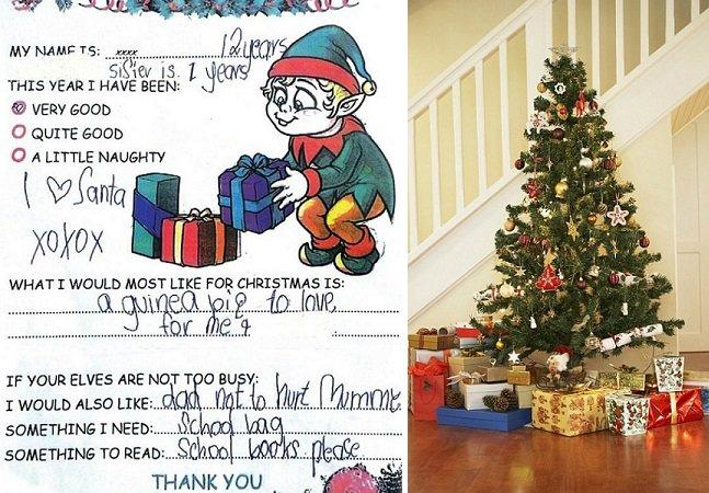 """""""Que o pai não bata na mamãe"""": os simples (e tocantes!) pedidos de crianças carentes ao Papai Noel"""