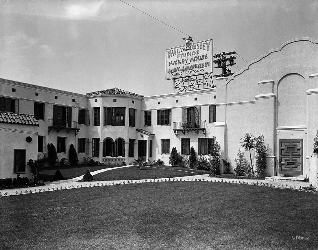 From 1926 to 1940, The Walt Disney Studios was located at 2719 Hyperion Boulevard, pictured here. This would become the home to Mickey Mouse, Donald Duck, Snow White and the Seven Dwarfs, and the artists who helped bring them magically to life.