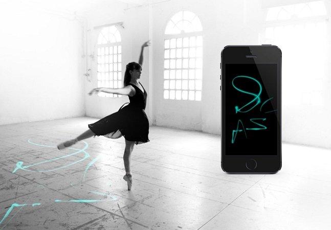 Sapatilhas inovadoras transformam movimentos de dança em incríveis desenhos