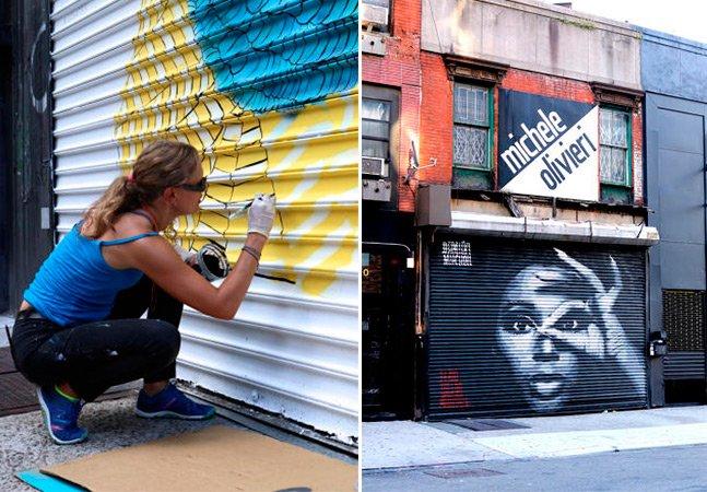 Artistas transformam  portões de ferro feiosos  em belas obras de arte