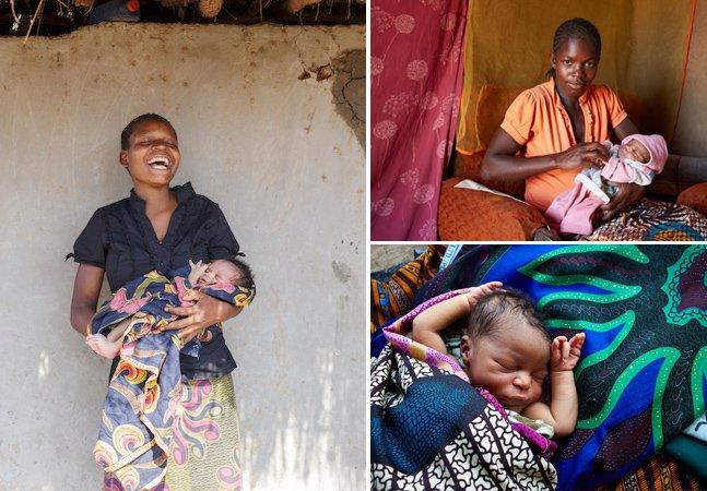 Fotógrafo retrata mulheres africanas com seus bebês recém-nascidos por uma boa causa