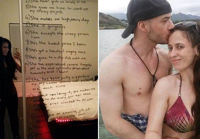 Homem lista as razões pelas quais ama sua namorada que está lutando contra a depressão