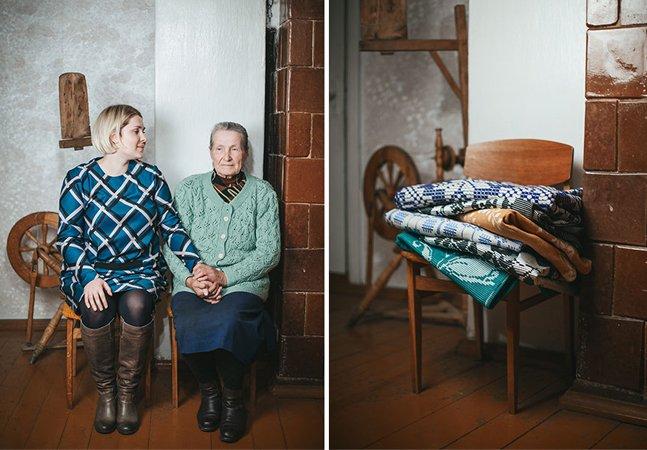 Fotógrafo retrata laços entre avós e netas a partir dos presentes de Natal que elas oferecem