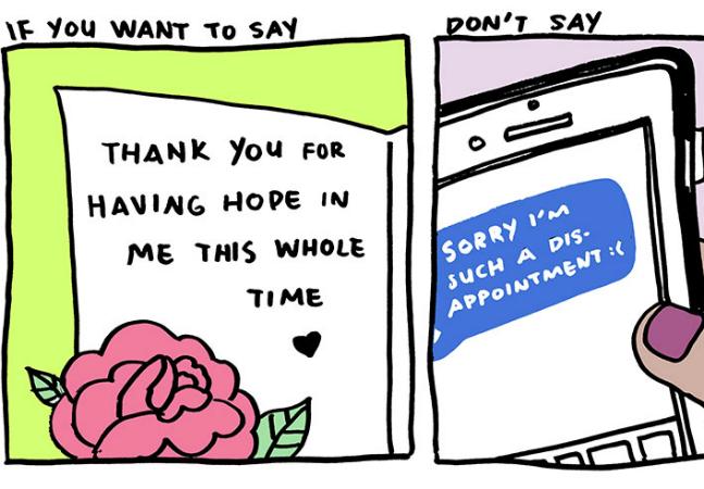 Série de ilustrações mostra porque você deveria agradecer mais e se desculpar menos
