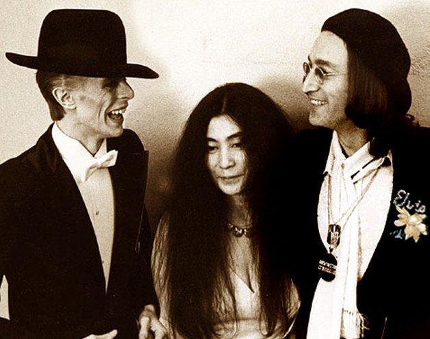 Bowie, Yoko Ono e John Lennon