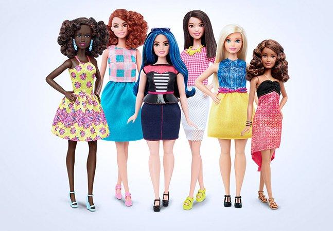 Barbie lança (finalmente) novas bonecas com 3 tipos de corpo diferentes – e realistas!