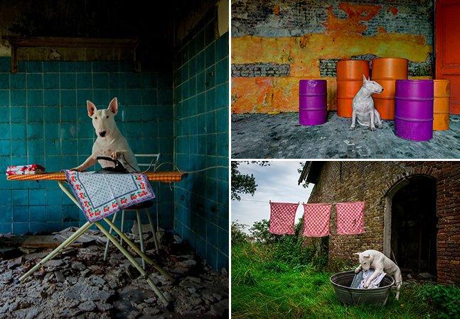 Fotógrafa viaja pela Europa explorando lugares abandonados com sua cachorra
