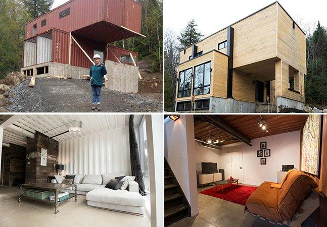 Mulher usa containers para criar sua própria casa e o resultado é impressionante