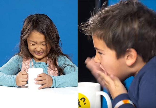 Vídeo mostra o que acontece quando crianças experimentam café pela primeira vez