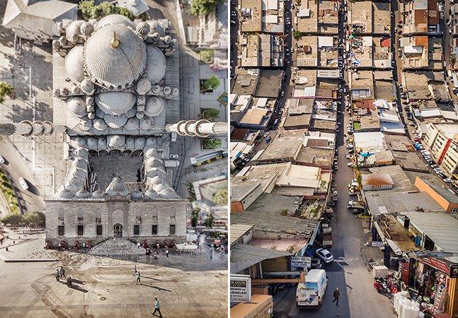 Artista brinca com a perspectiva para retratar Istambul como você nunca viu