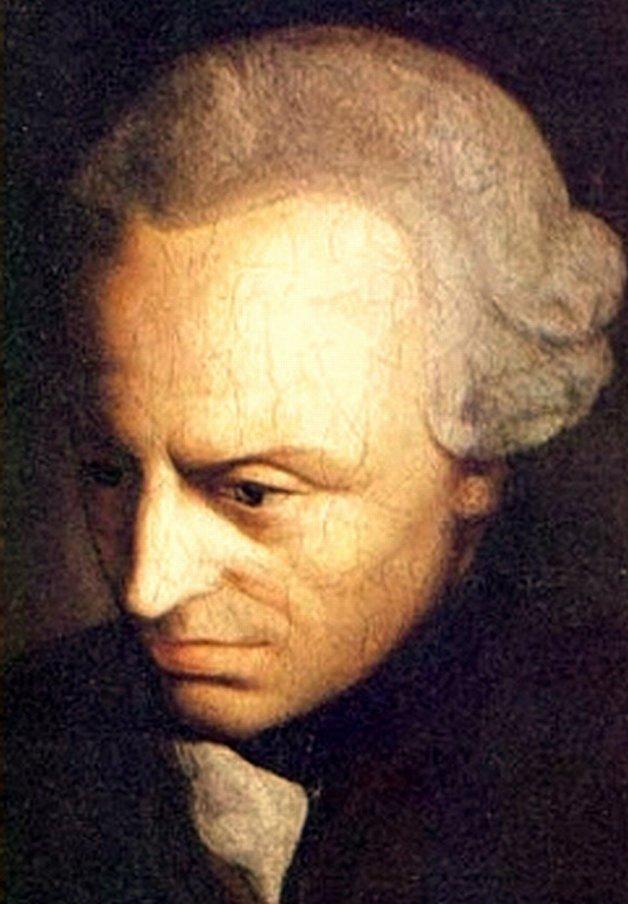 Retrato pintado de Immanuel Kant