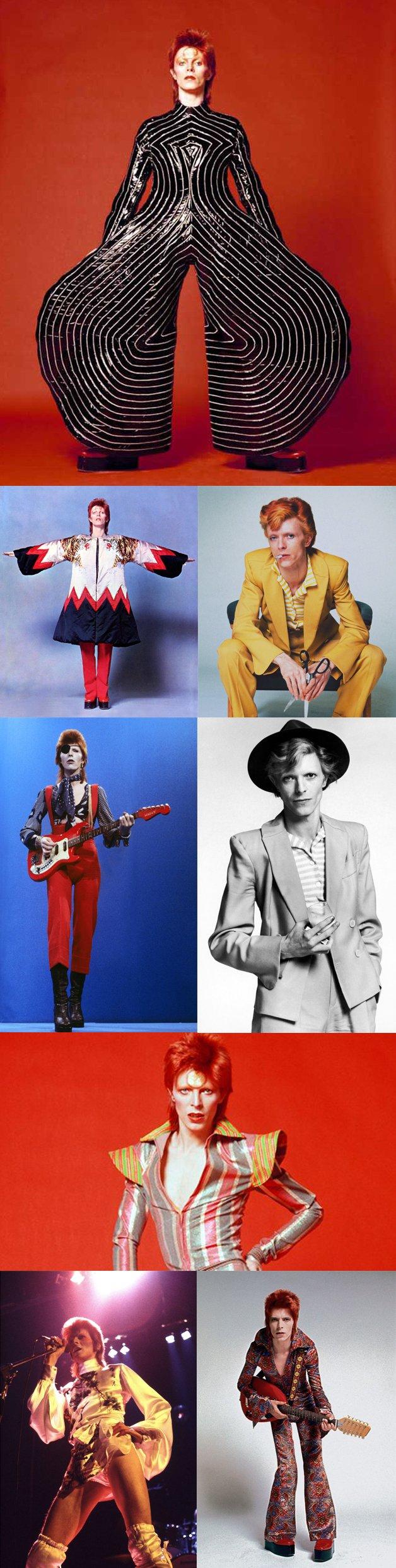 Exemplos do impacto de Bowie sobre o mundo da moda