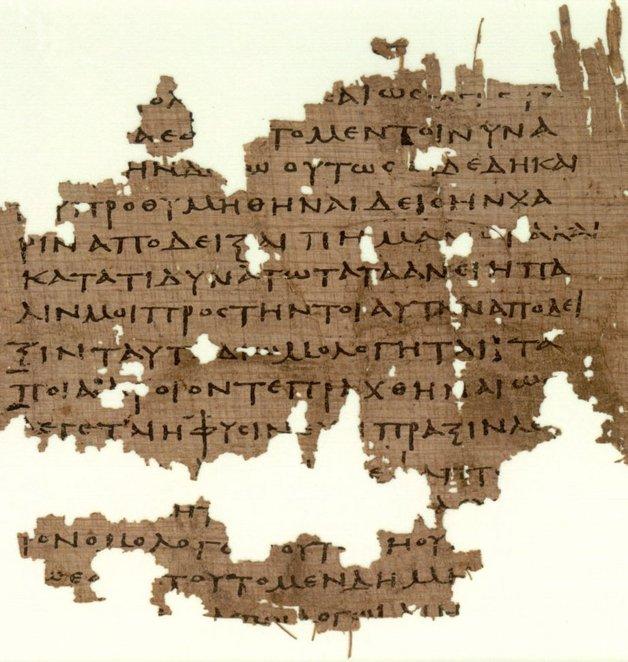 Manuscrito da República datado do século IV A.C.