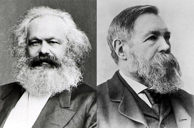 Karl Marx e Friederich Engels