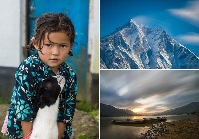 Depois do terremoto, ele continua viajando para o Nepal para mostrar toda a sua beleza