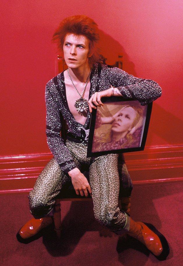 Bowie na época do seu disco Hunky Dory