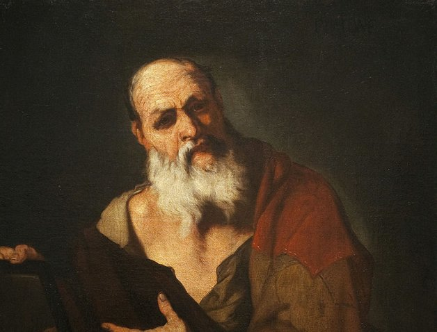 Platão retratado pelo pintor italiano Luca Giordano