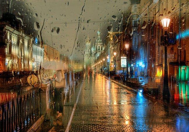 Fotógrafo usa a chuva para captar a beleza da Rússia em imagens que mais parecem pinturas