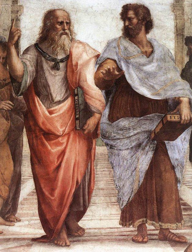 Raphael _ A Escola de Atenas_Plato_Aristotle