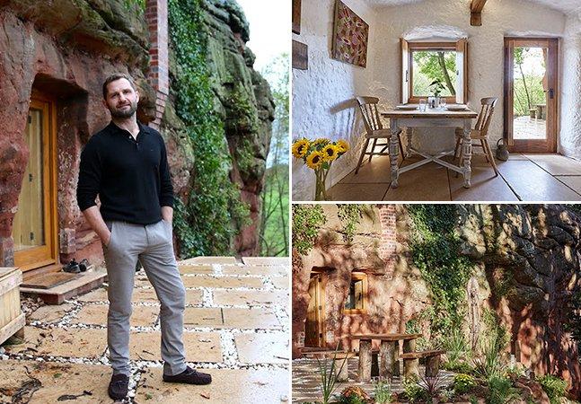 Homem passa mil horas transformando caverna abandonada em sua casa dos sonhos