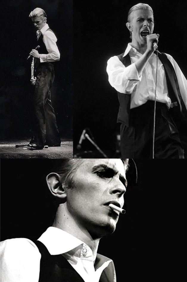 Bowie encarnando o Thin White Duke