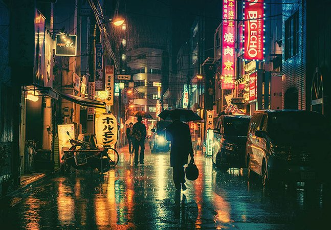Esta série de fotos de Tóquio à noite vai te dar vontade de viajar pra lá agora