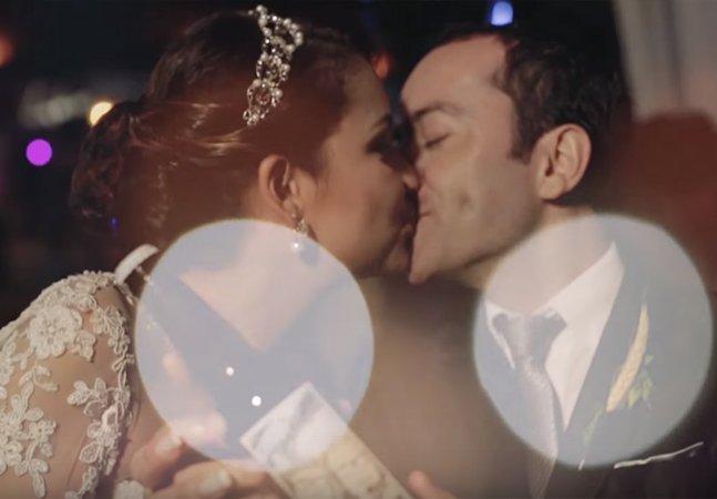Brasileiro surpreende a noiva com a história do casal contada nas garrafas de cerveja do casamento