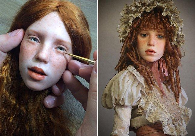 Artista cria bonecas tão realistas que chegam a ser assustadoras