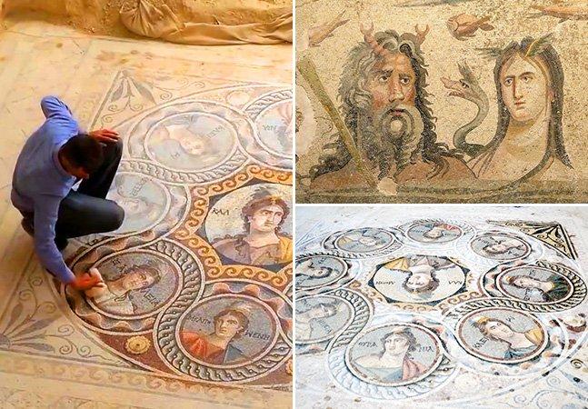 Arqueólogos descobrem mosaicos gregos com mais de 2 mil anos na Turquia