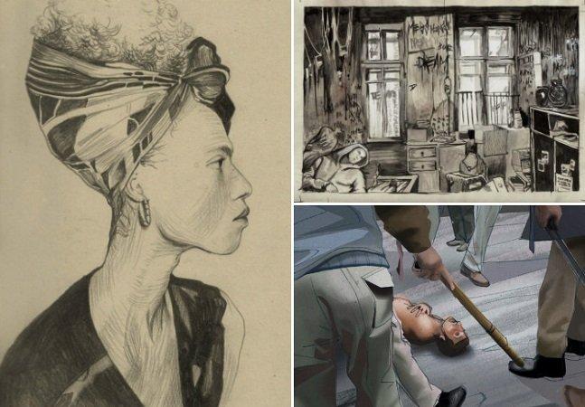 Artista cria série de  ilustrações impactantes sobre  temas contemporâneos