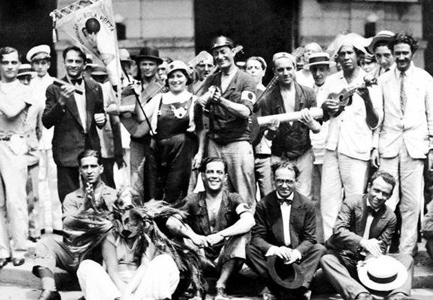 O Bola Preta e seus fundadores em 1918, ano de sua criação ©Divulgação