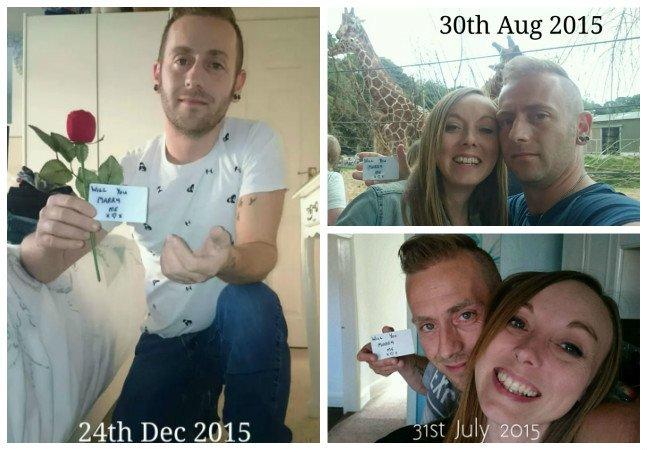 Homem passa 5 meses escondendo pedidos de casamento em fotos com a namorada