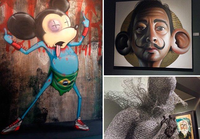 Cranio, Sipros e outros artistas urbanos renomados expõem obras juntos em SP