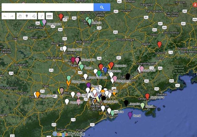 Mapa interativo mostra onde  estão as árvores de São Paulo