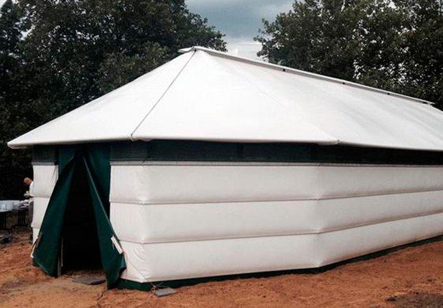 Abrigo para refugiados inovador  e de baixo custo pode ser feito  com qualquer material disponível