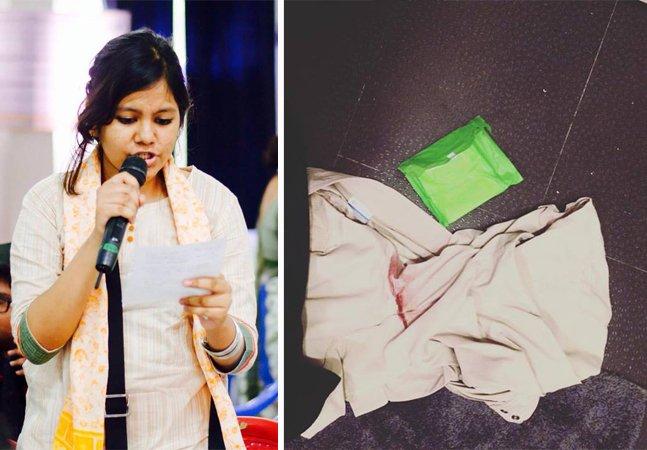 Ela manchou a roupa de  menstruação e usou o Facebook  para quebrar esse tabu