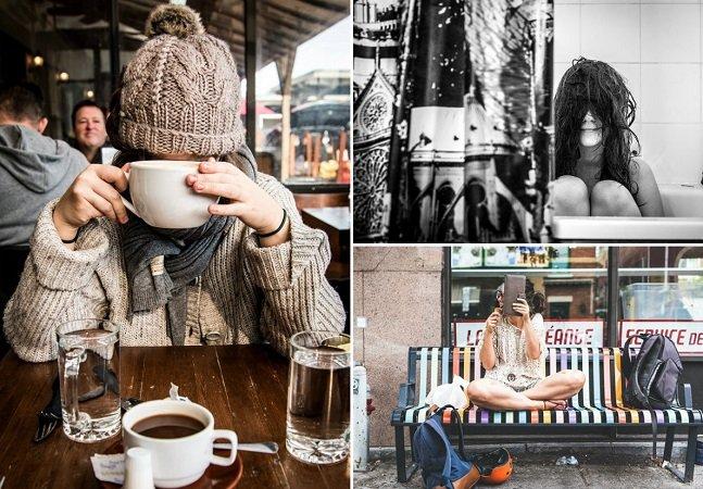 Fotógrafo cria série encantadora da namorada que tem vergonha de sua aparência na frente da câmera